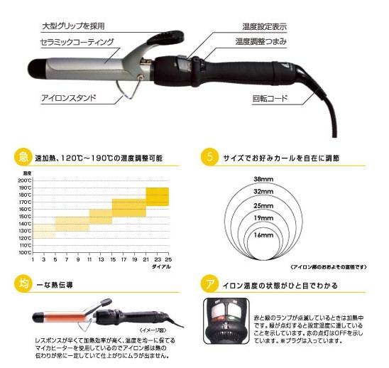 画像1: AIVIL DH セラミックカーリングアイロン 32mm